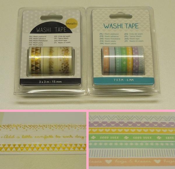 Extreem Shoplog Action, Hema en meer washi tape - SuzanCreatiefDivers XE99