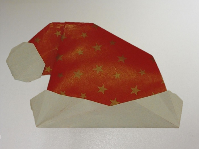 Origami Zo Kerstmuts Suzancreatiefdivers